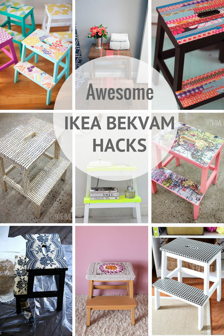 The most amazing and unique ways to hack the useful and cute IKea Bekvam Stool