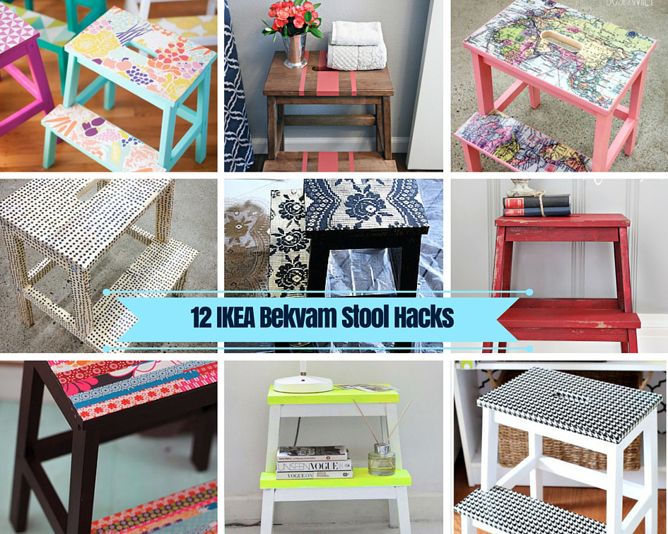 !2 Ikea Stool Hacks - Pillarboxblue.com