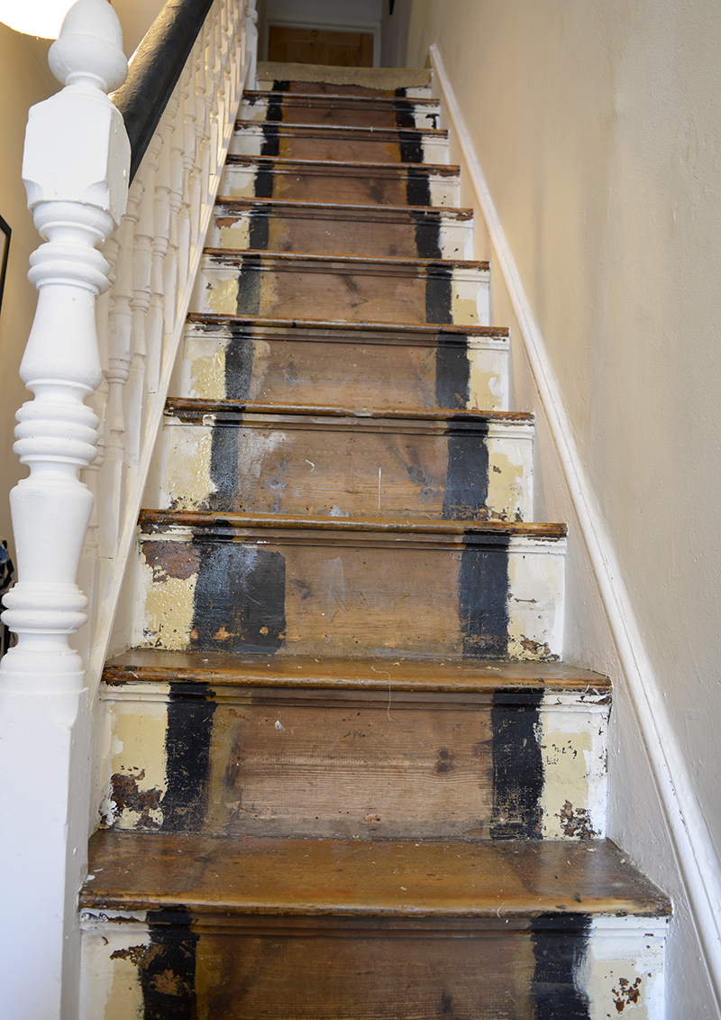 How to transform your stairs with wallpaper step by step tutorial.