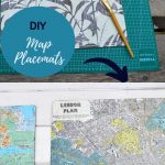 Upcycled map placemats