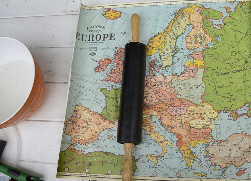 How to make a map magnetic pin board
