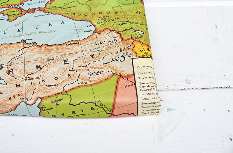 Map Magnetic board