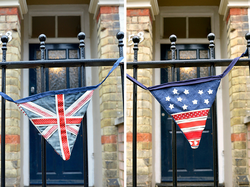 Upcycled Denim Bunting 2 ways, Union Jack and Stars and Stripes