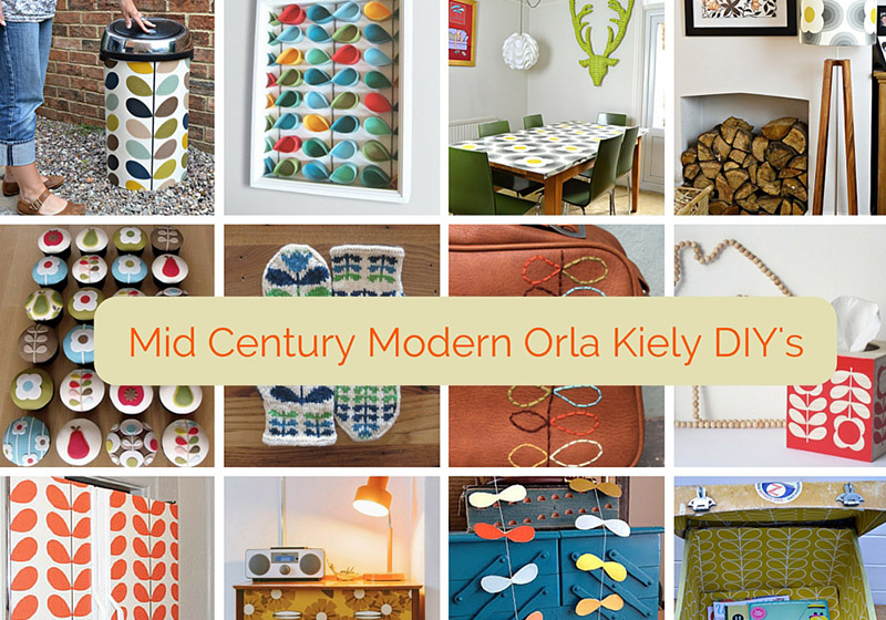 Get the mid century modern look by doing some Orla Kiely inspired crafts and DIY's. A round up of 12 fantastic Orla Kiely crafts for the home.