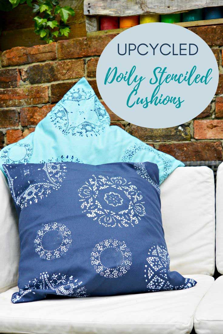 Doily Stencil a cushion or pillow