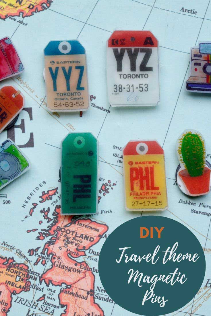 DIY travel themed pins