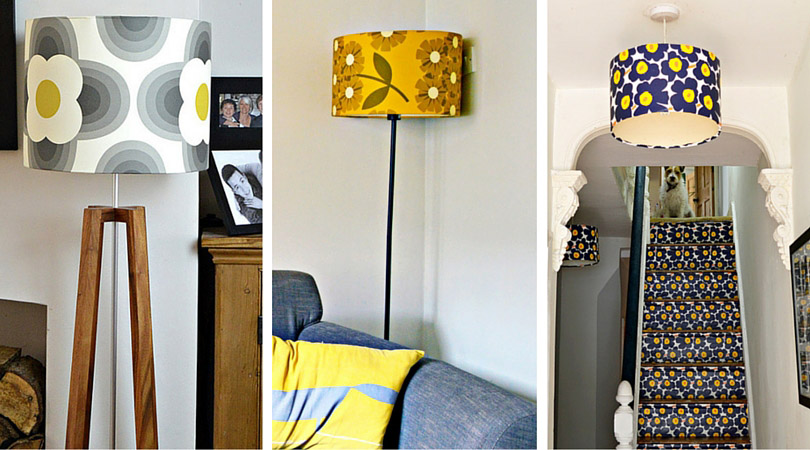 How to wallpaper lampshades to match your decor