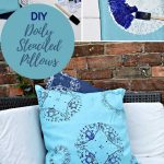 how to doily stencil a pillow