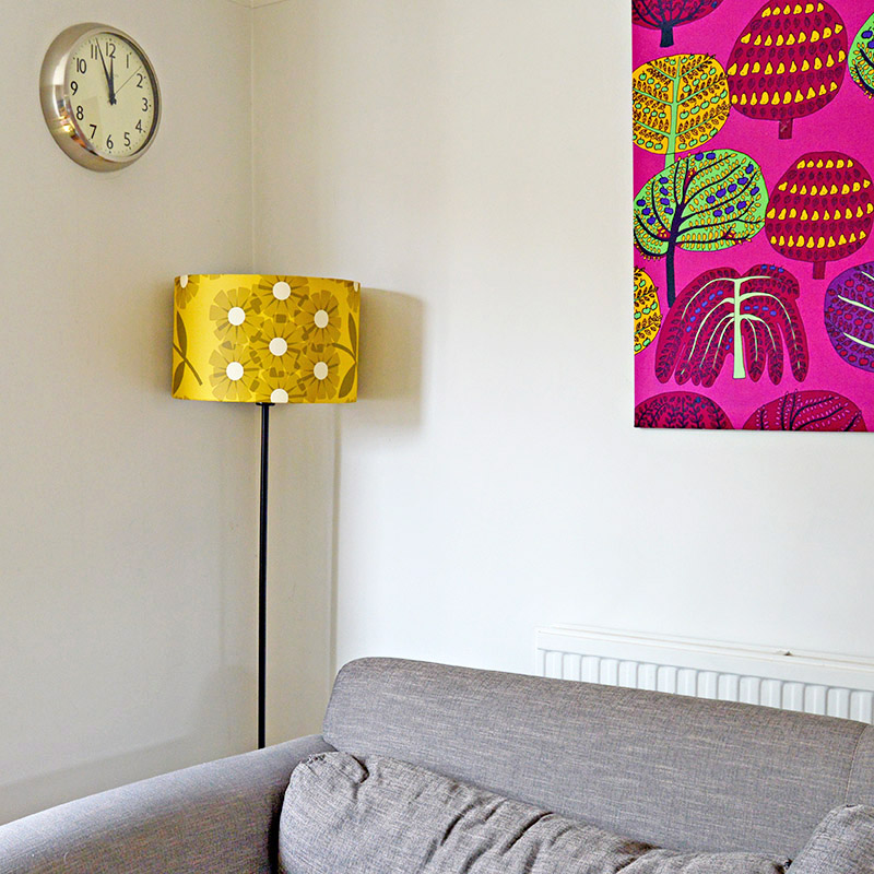 How to upcycle a lampshade with wallpaper