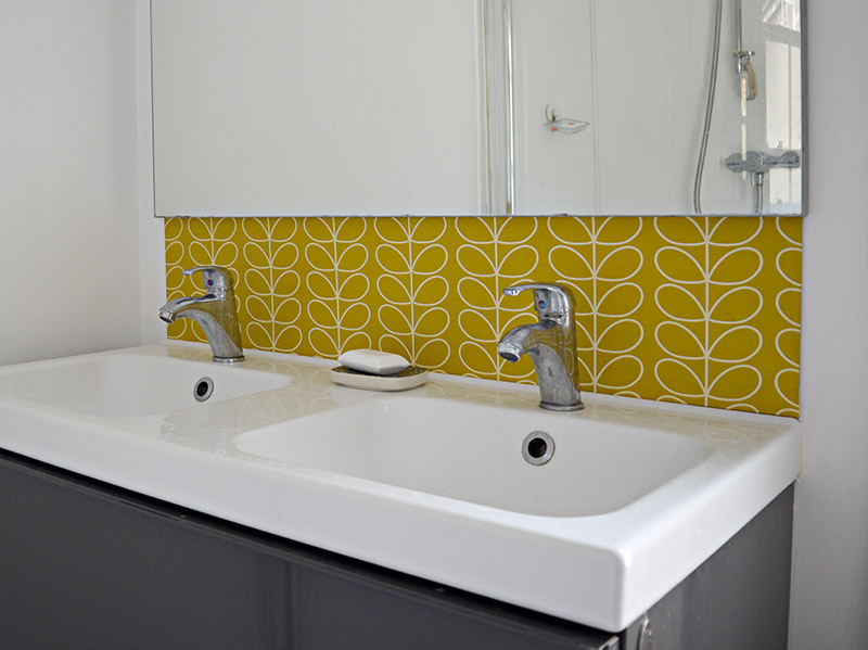 Bathroom diy splashback - create your own wallpaper splashback