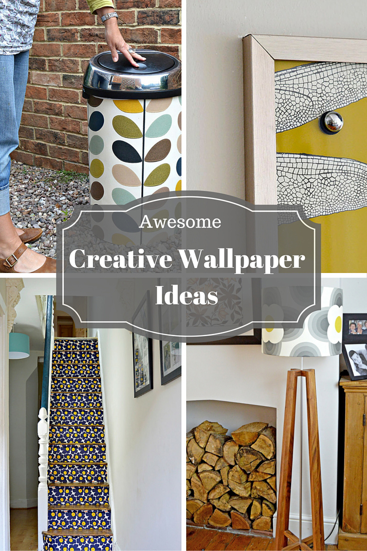 Creative wallpaper ideas- An awesome roundup of creative ways to use wallpaper in your home, other than on walls.