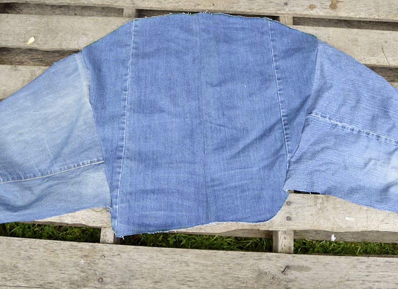 Ikea hack denim cover back.