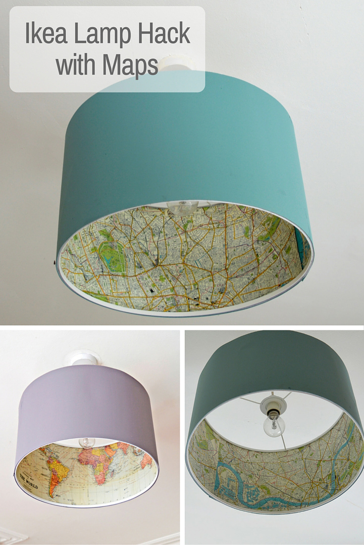 the best ikea lamp hack rismon map lampshade pillar box blue. Black Bedroom Furniture Sets. Home Design Ideas