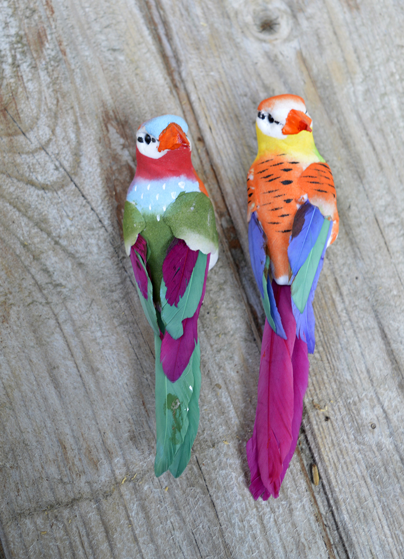 Birds for tropical fabric birdhouse