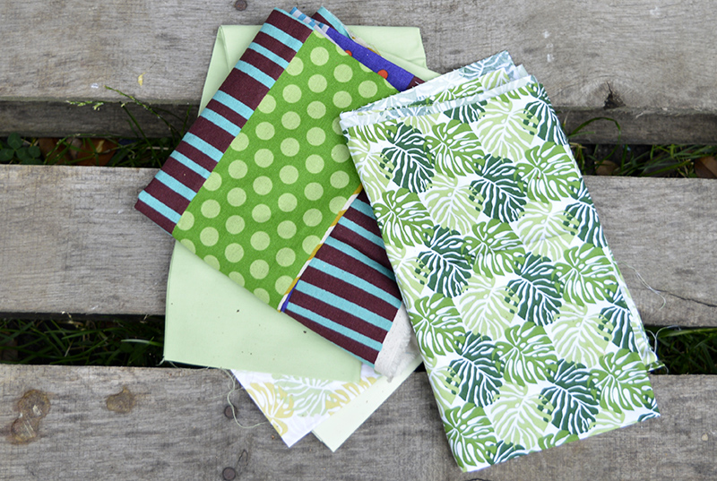 Tropical Fabric for birdhouses