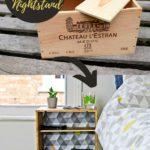 upcycled wine box nightstand