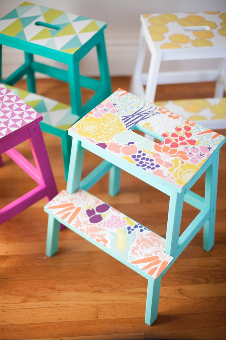 wallpaper stools