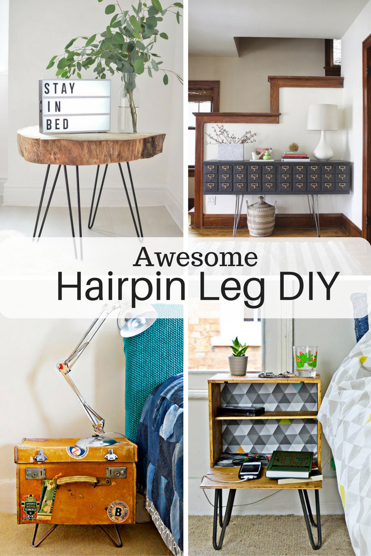 Hairpin Legs Awesome DIY Furniture Ideas Pillar Box Blue