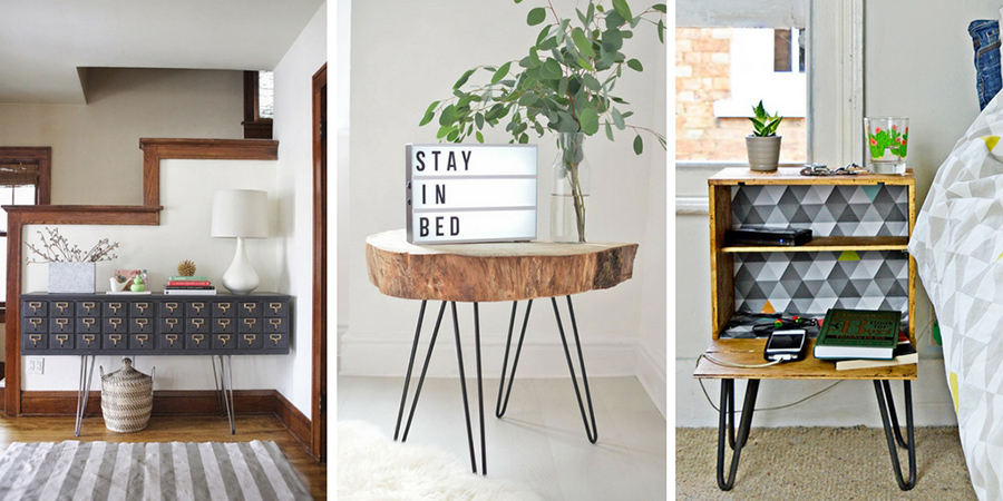 Hairpin legs are an awesome way to upcycle your own furniture. Here I show you how.