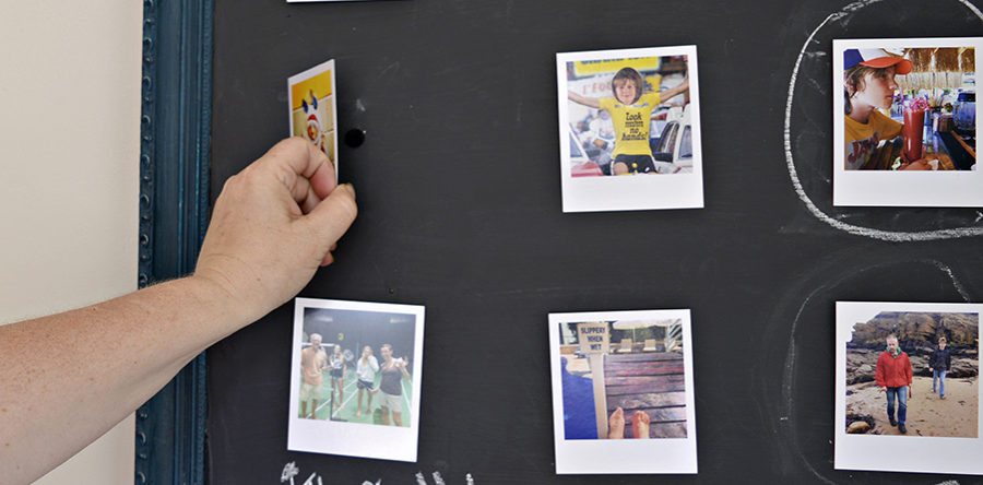 Diy Chalkboard Frame A Fun Easy Way To Display Photos Pillar Box Blue