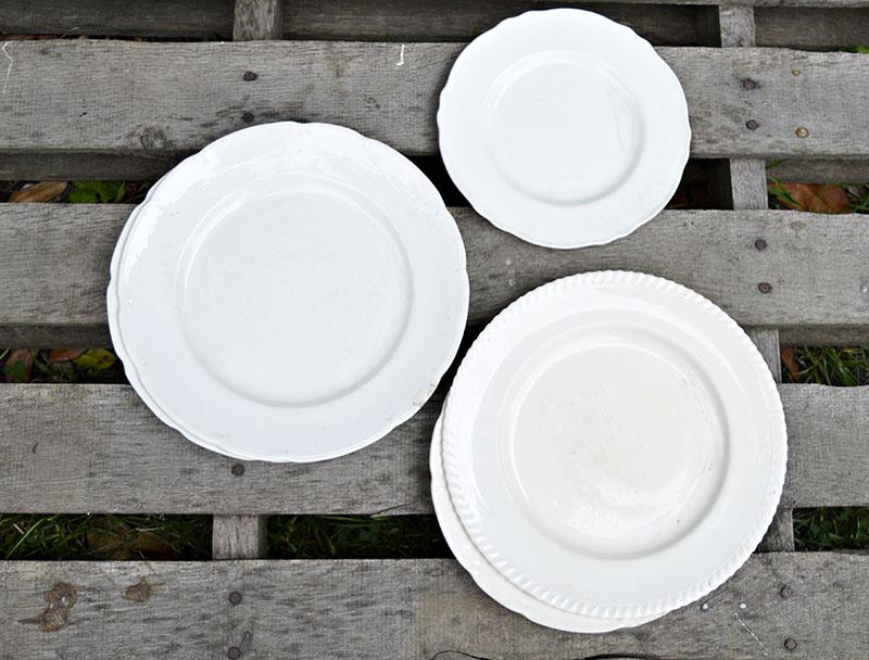 vintage plate doillie stenciled sm