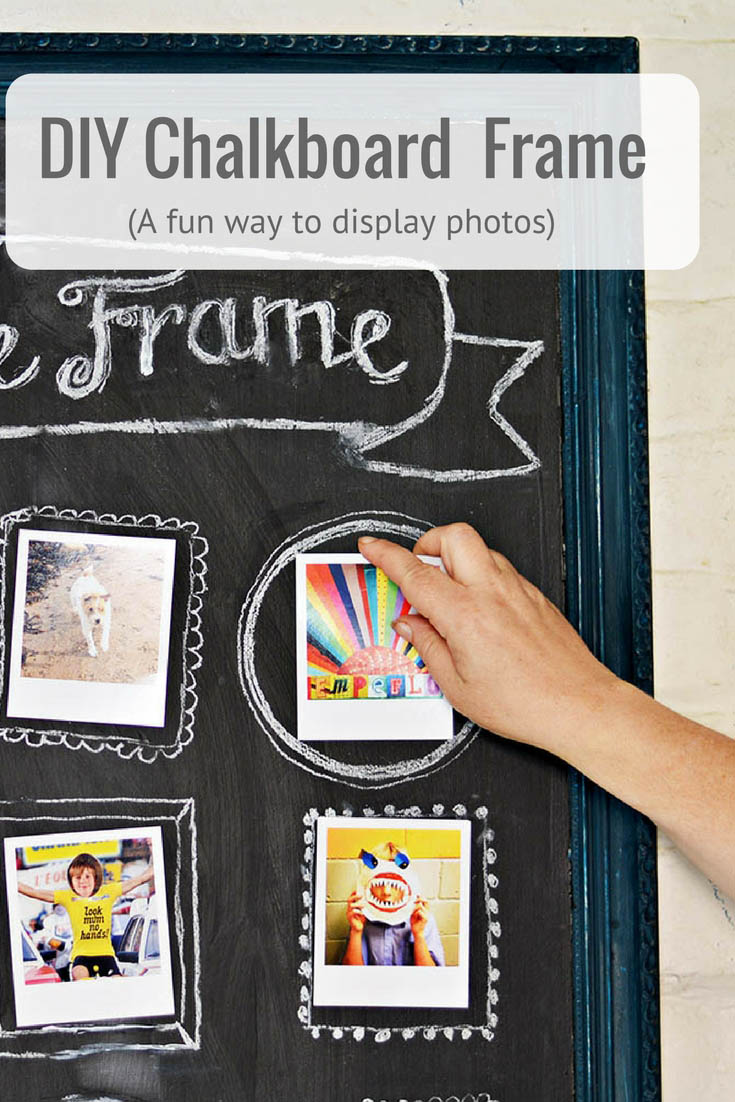 How to make a stunning printed map picture frame pillar box blue create a fun easy way to show off your photos with this upcycled chalkboard frame jeuxipadfo Choice Image