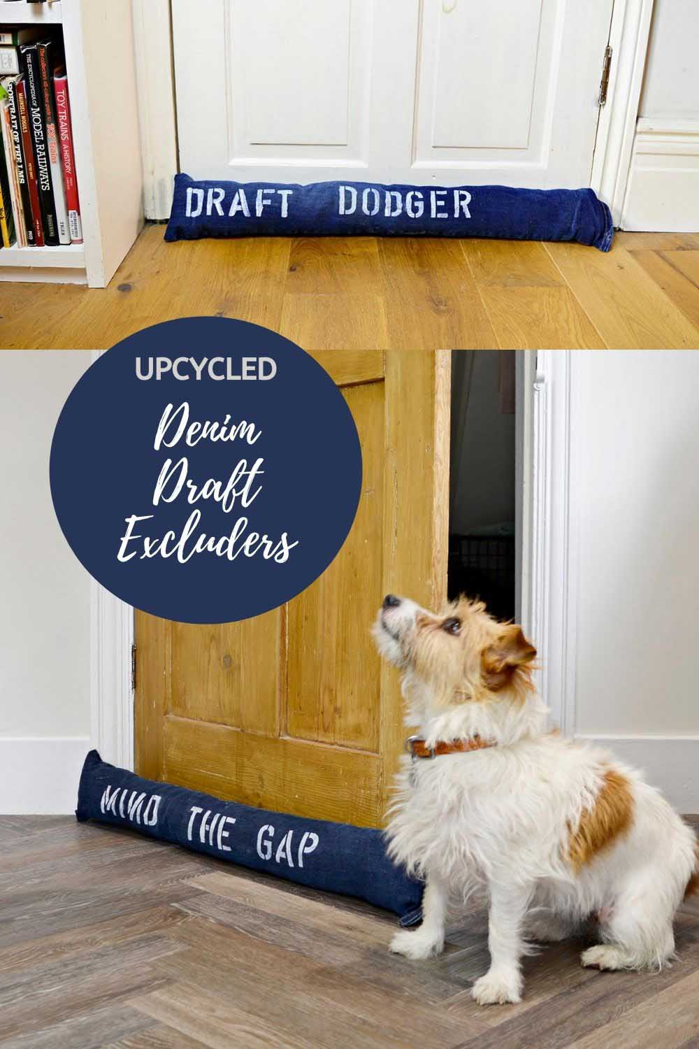 Denim draught excluders DIY