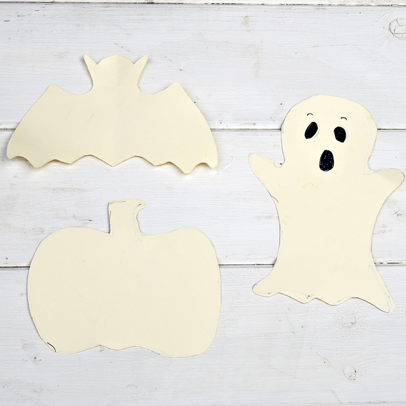 Halloween treats bag template cut outs.