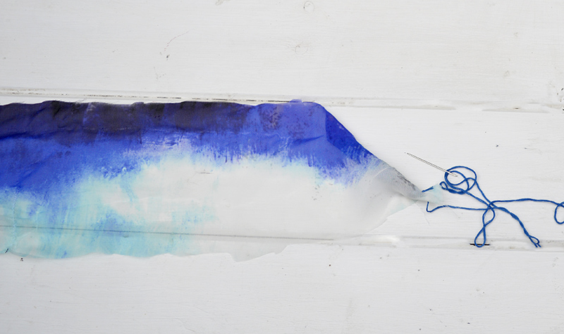 DIY Jewelry from old scarf and beads