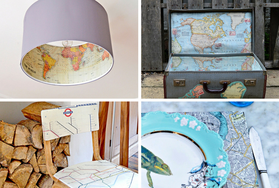 15 of the best map decor crafts for your home
