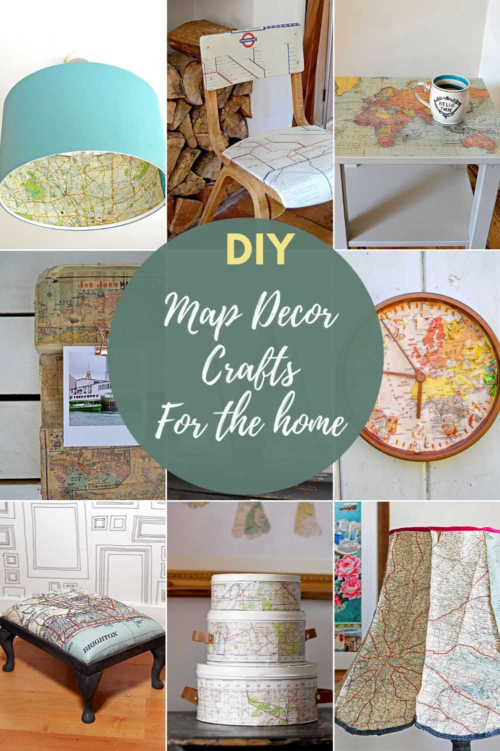 Best map decor crafts