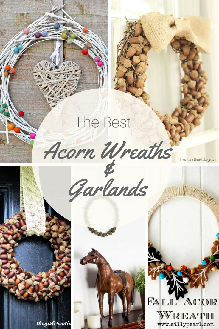 Acorns are perfect for fall crafting and decorating. Here are some of the best ideas for acorn wreaths and garlands.