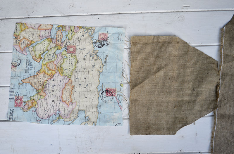 Map pillow fabric