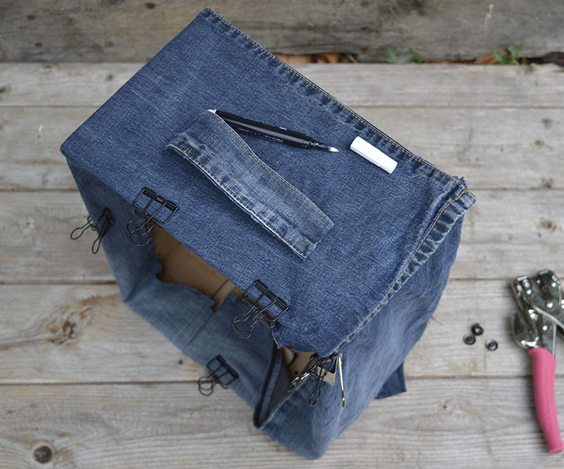 adding denim handles