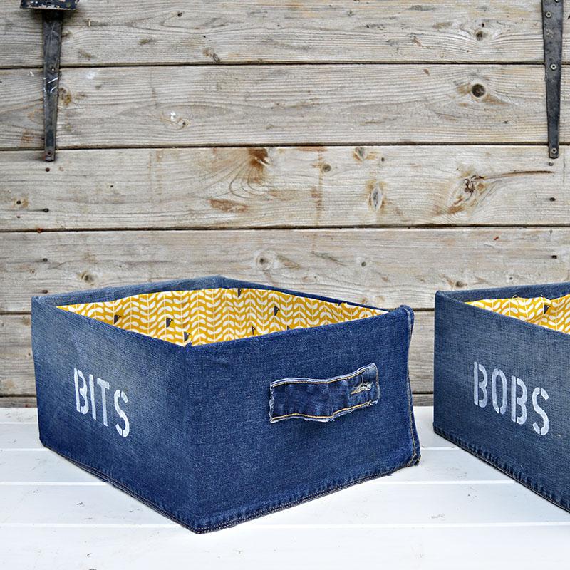 Diy Storage Box Using Denim Ikea Pingla Hack Pillar