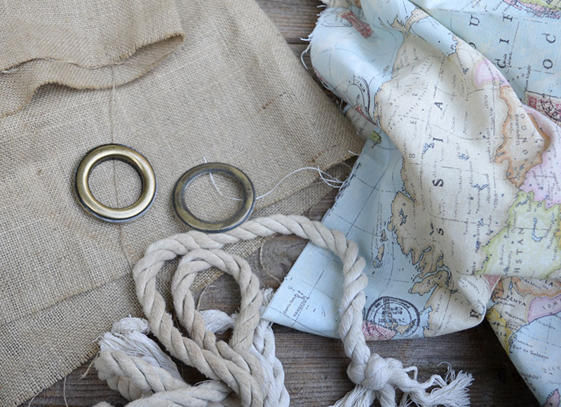 Map burlap pillows what you need