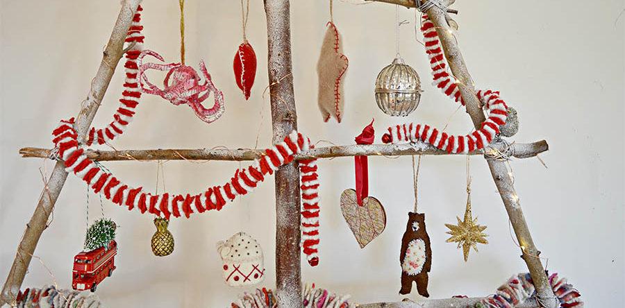 how to make a diy branch christmas tree - How To Make A Christmas