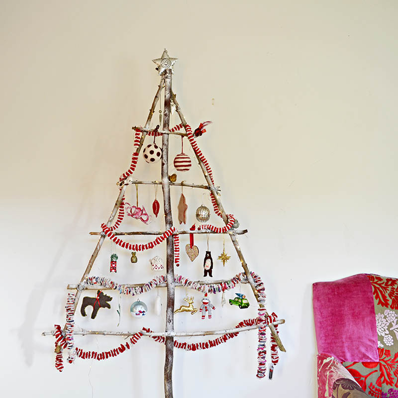 Short of space or want a second tree then this easy branch DIY Christmas tree could be the answer.