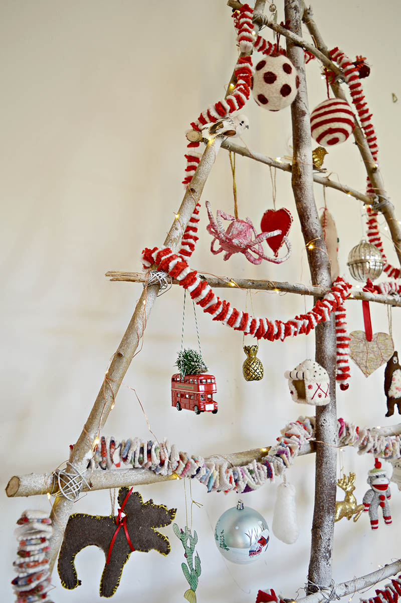 How to make your own DIY Christmas tree using branches for your garden.