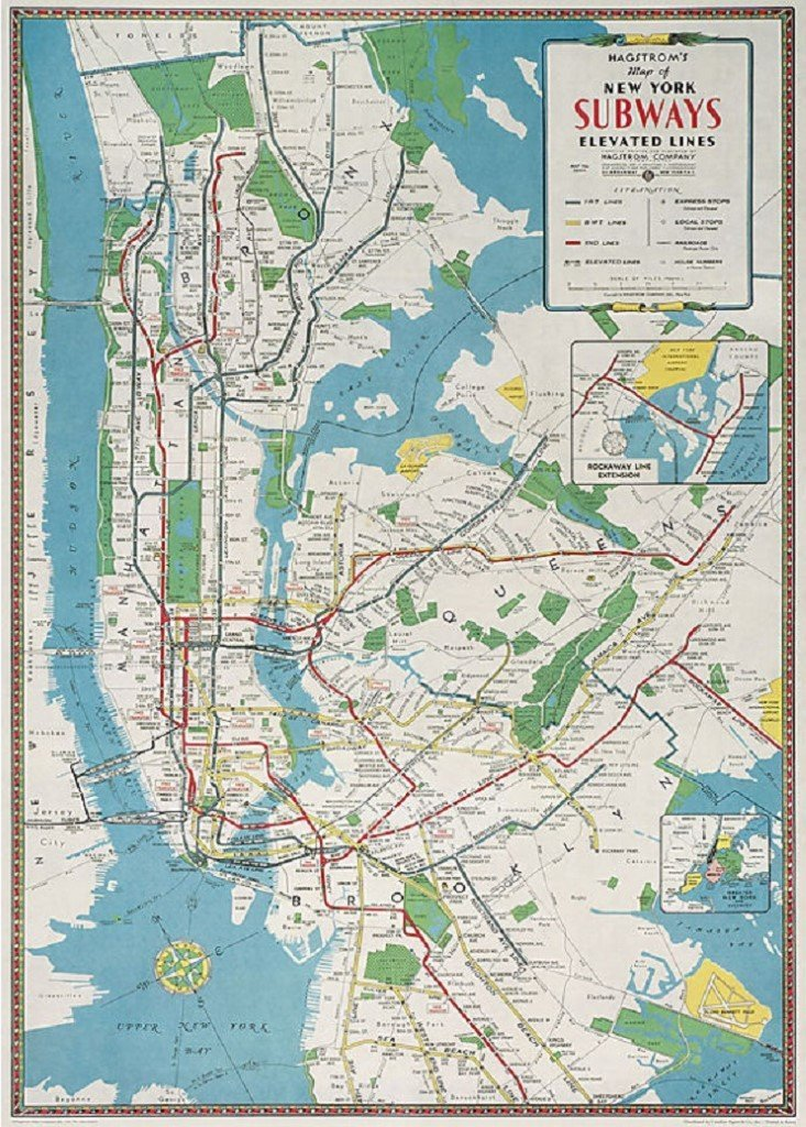 city-map-wrapping-paper