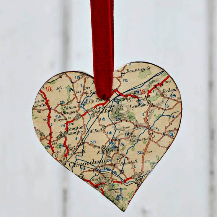 How To Make Heart Map Ornaments & Brooches