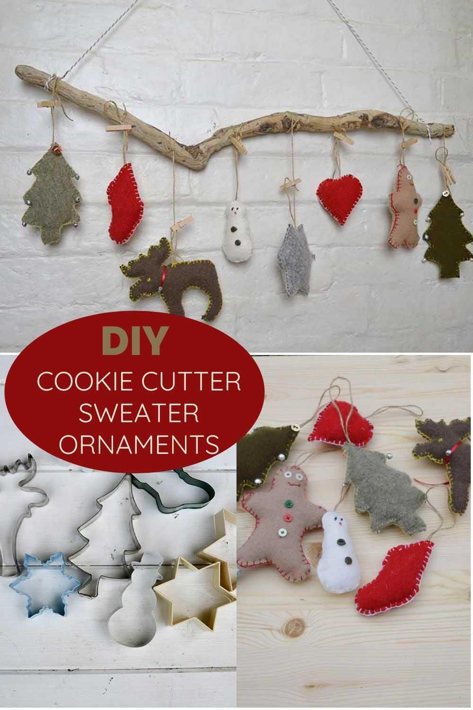 DIY cookie cutter Sweater ornaments