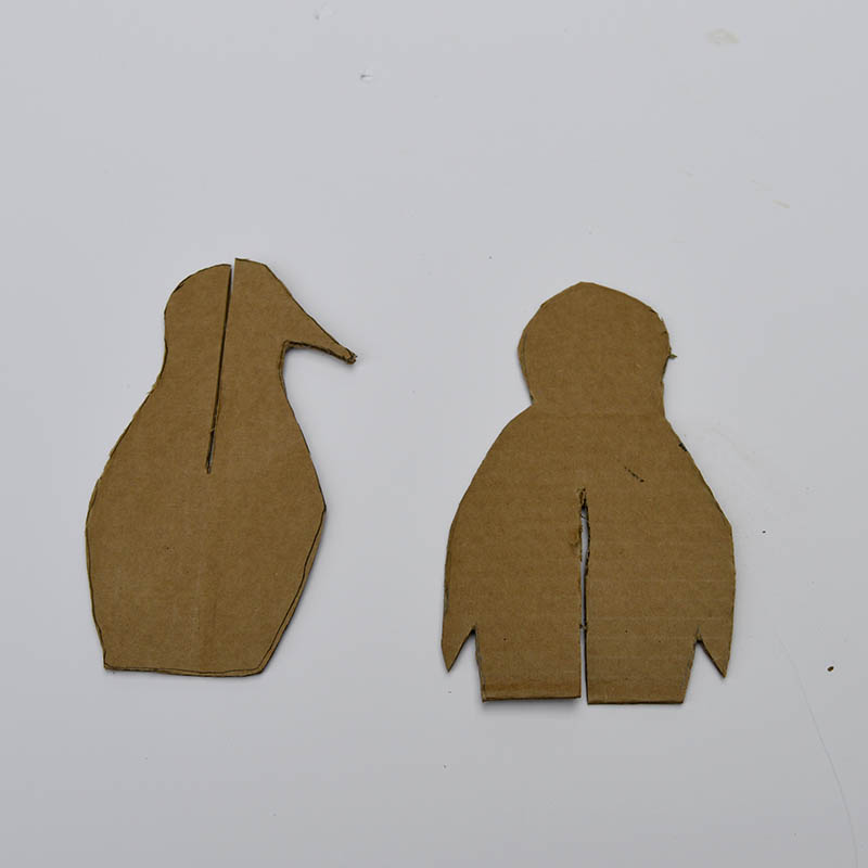 cardboard penguin cut outs