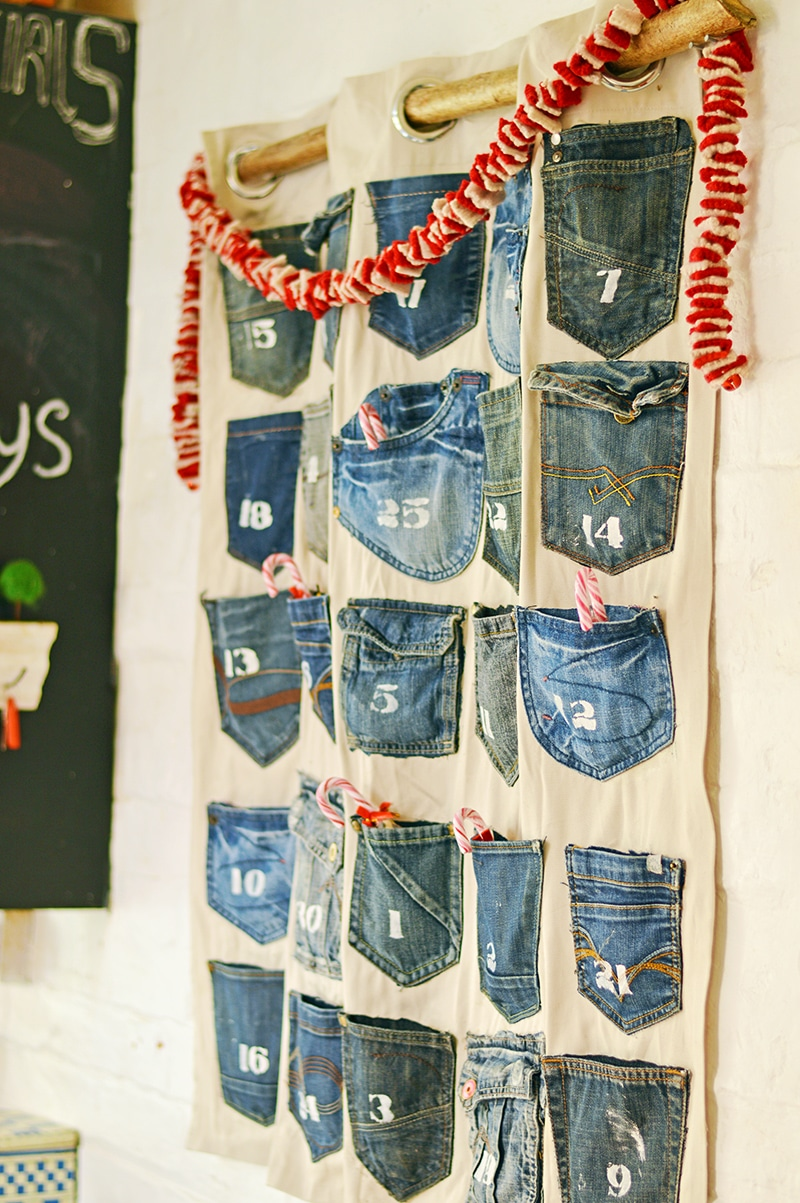 Best denim Christmas decorations advent calendar