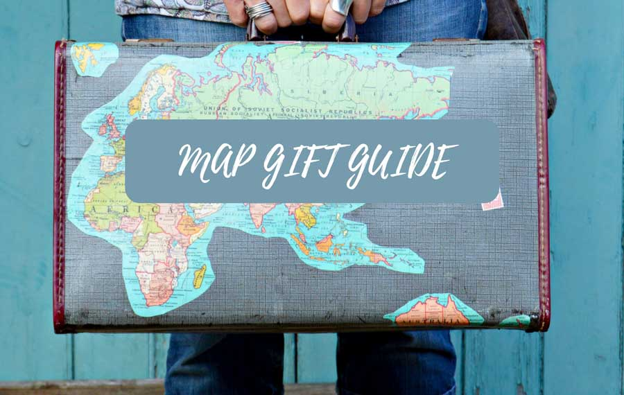 Map Themed Gift Guide For The Map Lover