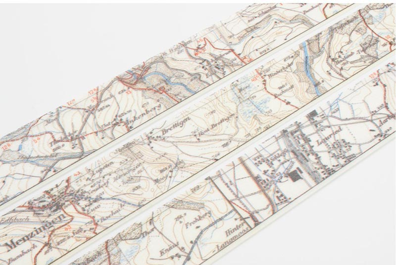 Map washi tape.  Map themed gift guide.