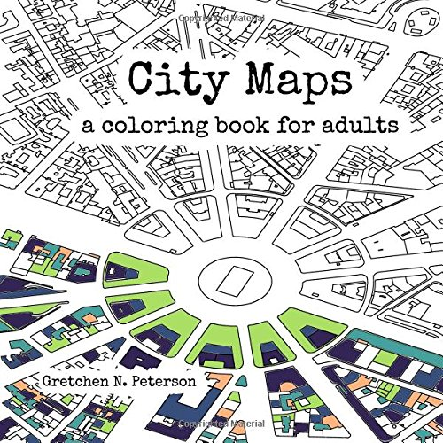 Adult map colouring book.  Map themed gift guide.
