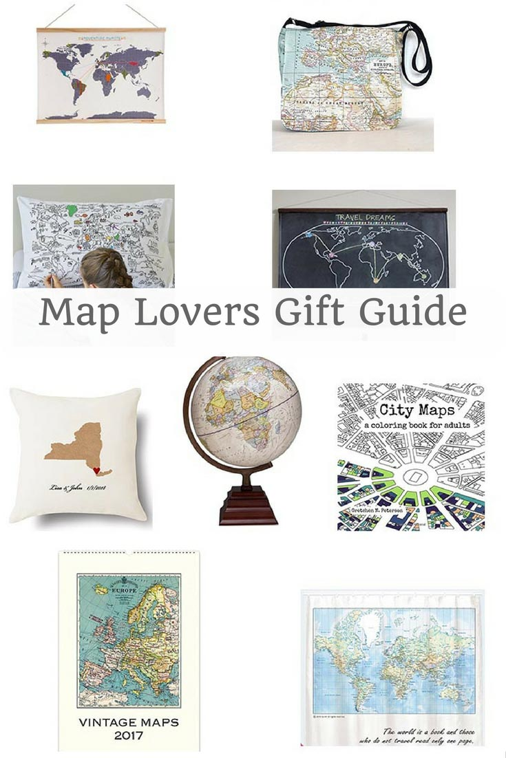 By the map lovers or those with wanderlust something special this Christmas.  Check out this map themed gift guide.