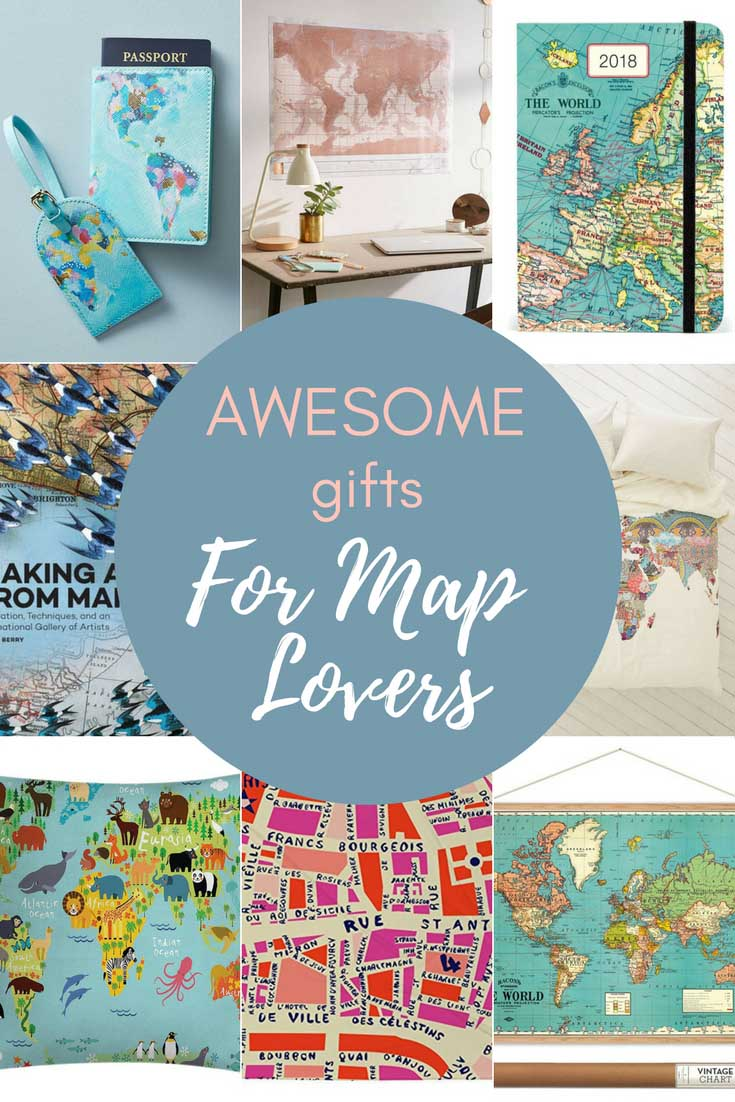 Looking for that special Christmas present.  Check out this awesome map themed gift guide for those with wanderlust.  #giftguide #map #maps #christmasgifts #wanderlust