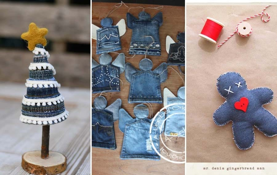 Denim Christmas Decorations